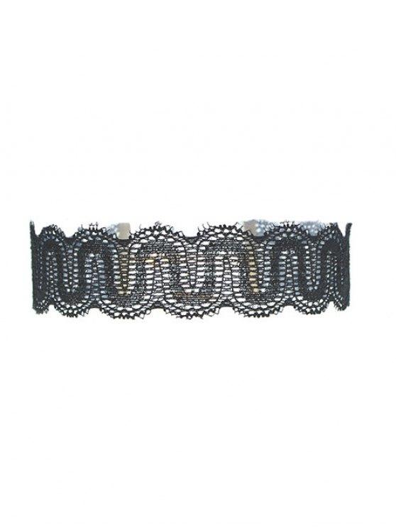 Hollow Out Lace Necklace - BLACK  Mobile