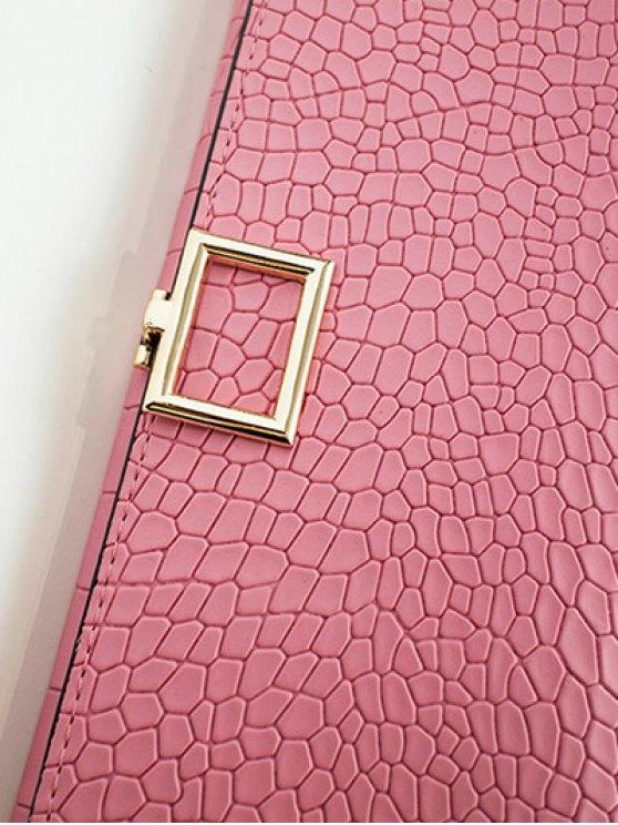 Stone Pattern Tri Fold Wallet - PINK  Mobile
