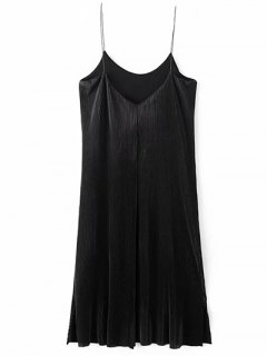 Robe Ruchée Vintage - Noir S