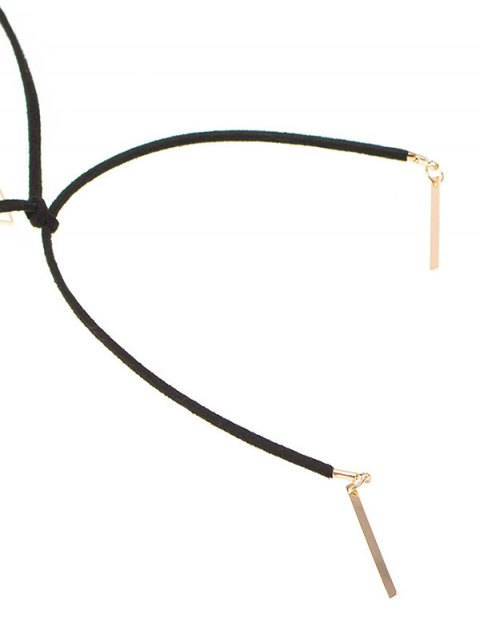 best Triangle Bar Tie Choker - BLACK  Mobile