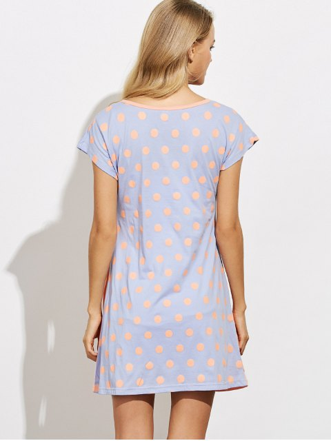 sale Cartoon Pattern Lounge Tee Dress - ORANGE XL Mobile