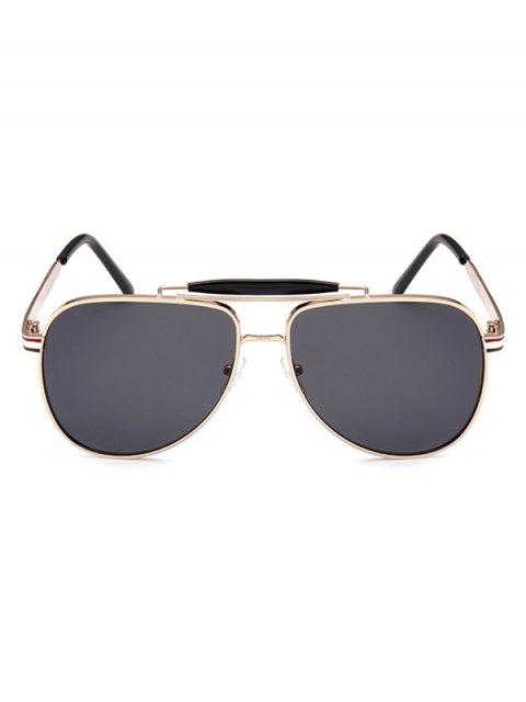 new Pencil Leg Crossbar Pilot Sunglasses - BLACK GREY  Mobile