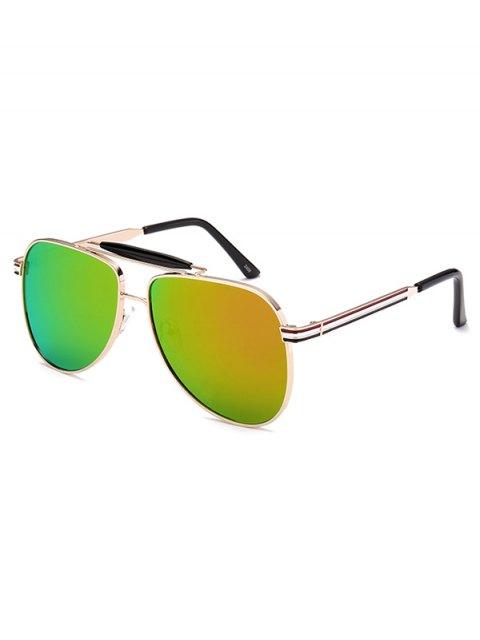 outfit Pencil Leg Pilot Mirrored Sunglasses - LIGHT GREEN  Mobile