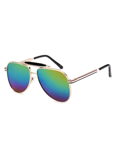 outfits Pencil Leg Pilot Mirrored Sunglasses - COLORFUL  Mobile