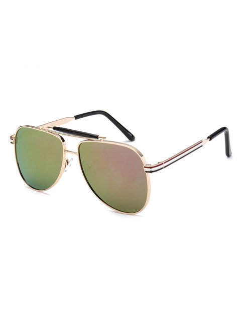 shop Pencil Leg Pilot Mirrored Sunglasses - LIGHT PURPLE  Mobile