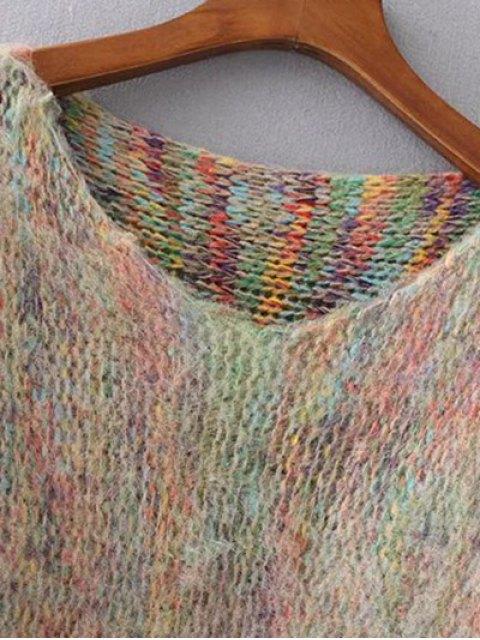 best Oversized Fringed Sweater - KHAKI ONE SIZE Mobile