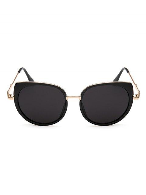 chic Full Rims Cat Eye Sunglasses - BLACK  Mobile