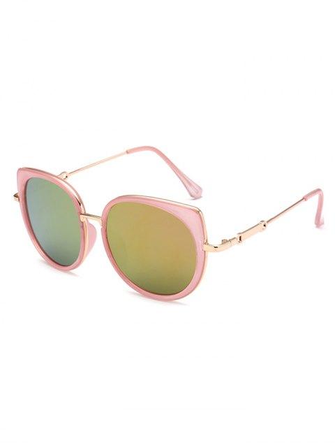 womens Cat Eye Mirror Sunglasses - PINK  Mobile