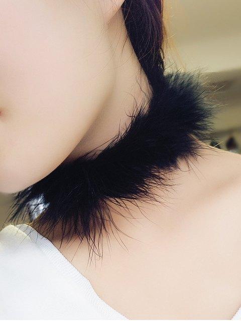women Faux Fur Choker - BLACK  Mobile