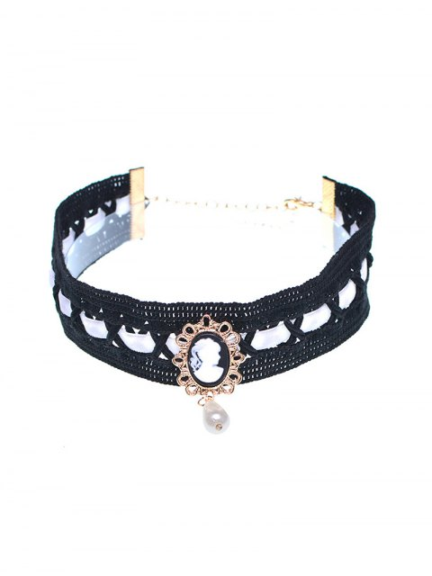 new Faux Pearl Queenly Portrait Choker -   Mobile