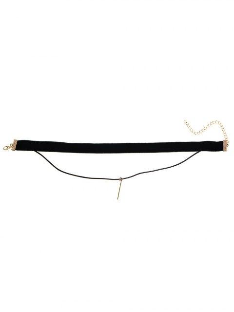outfit Layered Velvet Choker - BLACK  Mobile