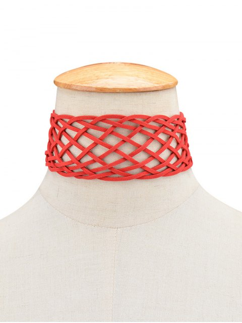 trendy Braided Grid Choker -   Mobile