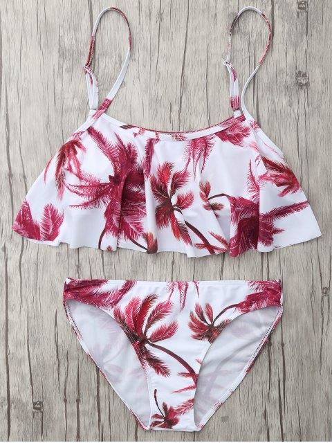 hot Coconut Palm Spaghetti Straps Bikini - FLORAL L Mobile