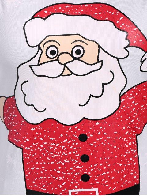 chic Christmas Santa Clause Midi Bodycon Dress - WHITE S Mobile