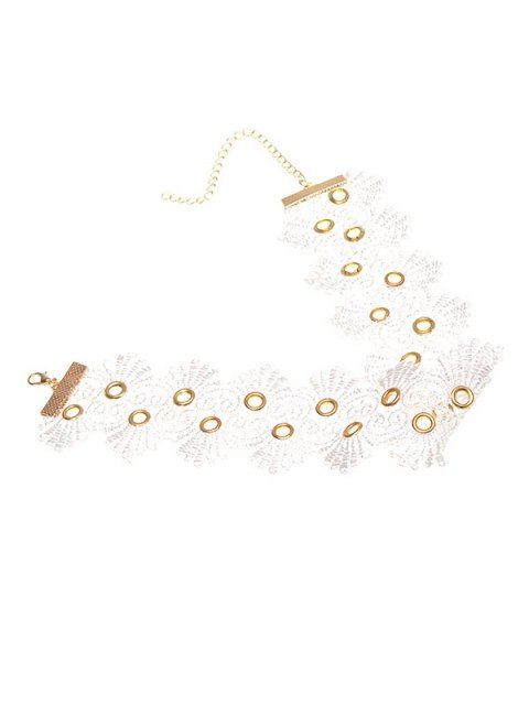 new Lace Flower Choker - WHITE  Mobile