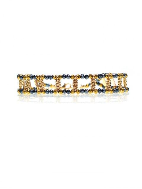 chic Vintage Beaded Rhinestone Necklace -   Mobile