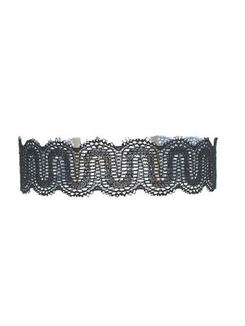 unique Hollow Out Lace Necklace - BLACK  Mobile