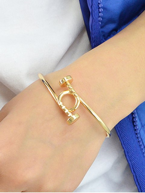 hot Piton Cuff Bracelet - GOLDEN  Mobile