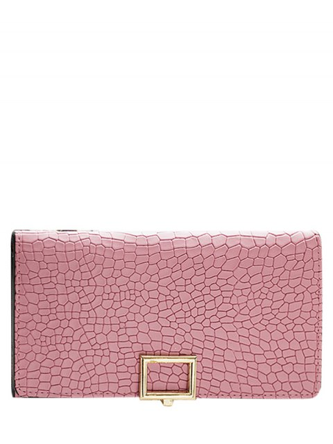 outfits Stone Pattern Tri Fold Wallet - PINK  Mobile