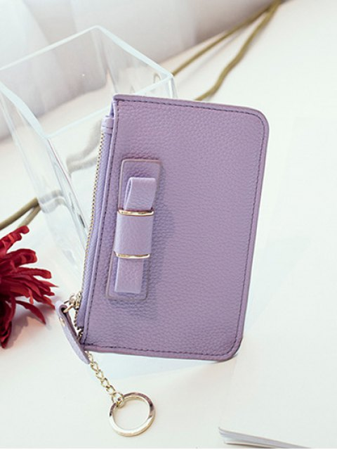 fancy Bowknot PU Leather Coin Purse - PURPLE  Mobile