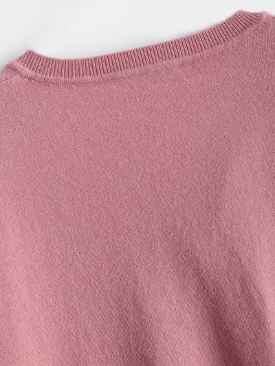 Slimming Flare Sleeve Knitwear - BLACK ONE SIZE Mobile