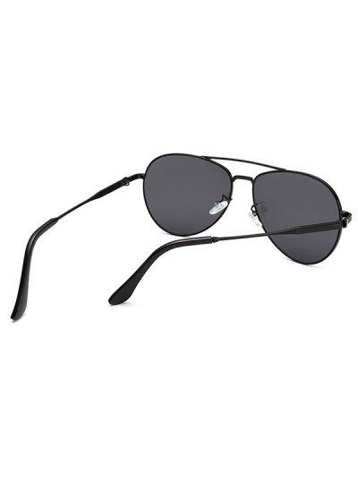 Metal Crossbar Pilot Sunglasses - BLACK  Mobile