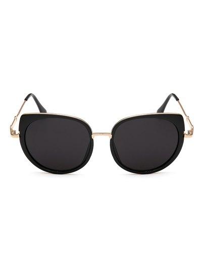Full Rims Cat Eye Sunglasses - BLACK  Mobile
