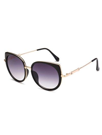 Full Rims Cat Eye Sunglasses - DEEP PURPLE  Mobile