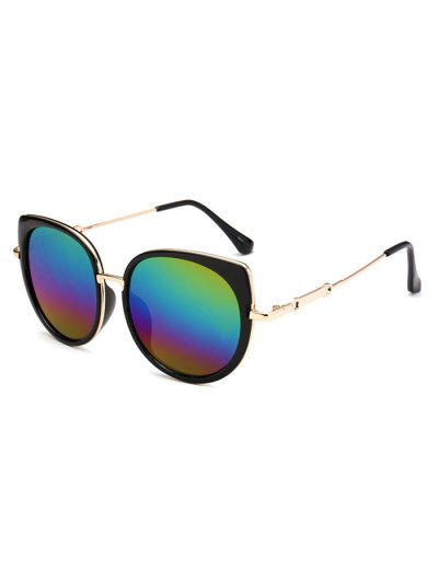 Cat Eye Mirrored Sunglasses - COLORFUL  Mobile