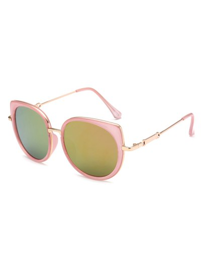 Cat Eye Mirrored Sunglasses - PINK  Mobile