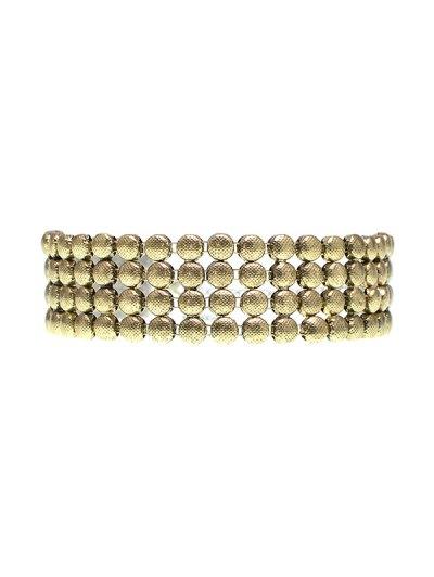 Round Metallic Choker - GOLDEN  Mobile