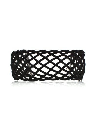 Braided Grid Choker - BLACK  Mobile