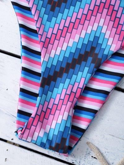Reversible Stripes Halter String Bikini - STRIPE L Mobile