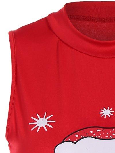 Christmas Santa Clause Midi Dress - RED XL Mobile