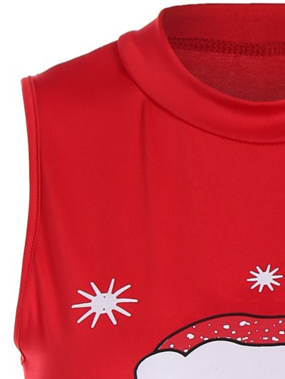 Christmas Santa Clause Midi Dress - RED M Mobile