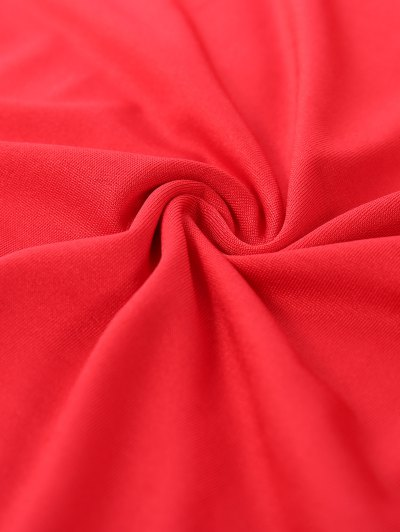 Christmas Santa Clause Midi Dress - RED S Mobile