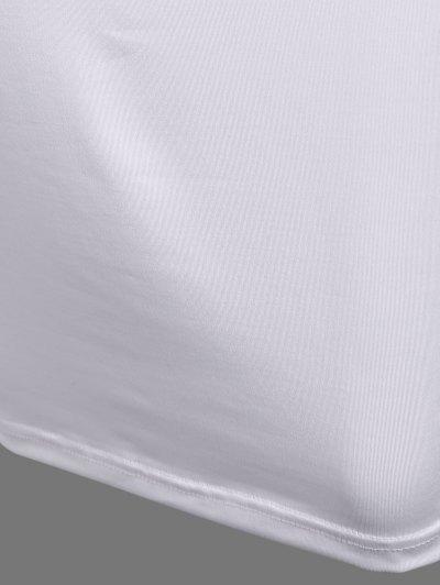 Christmas Santa Clause Midi Dress - WHITE S Mobile