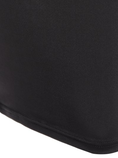 Christmas Santa Clause Midi Dress - BLACK M Mobile