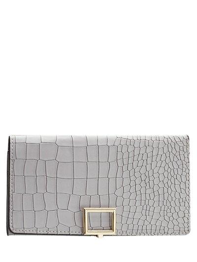 Stone Pattern Tri Fold Wallet - LIGHT GRAY  Mobile