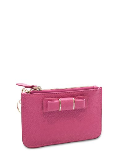 Bowknot PU Leather Coin Purse - ROSE MADDER  Mobile