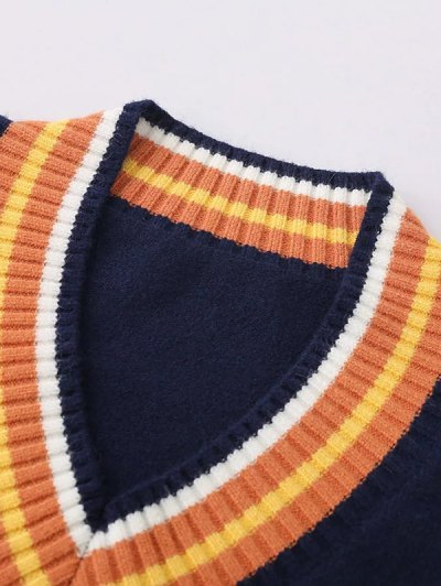 V Neck Cricket Sweater - JACINTH ONE SIZE Mobile