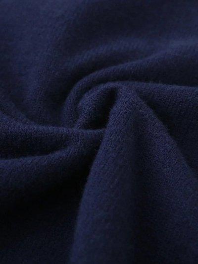 V Neck Cricket Sweater - PURPLISH BLUE ONE SIZE Mobile