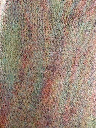 Oversized Fringed Sweater - PURPLE ONE SIZE Mobile