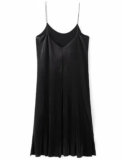 Ruched Vintage Midi Dress - BLACK M Mobile