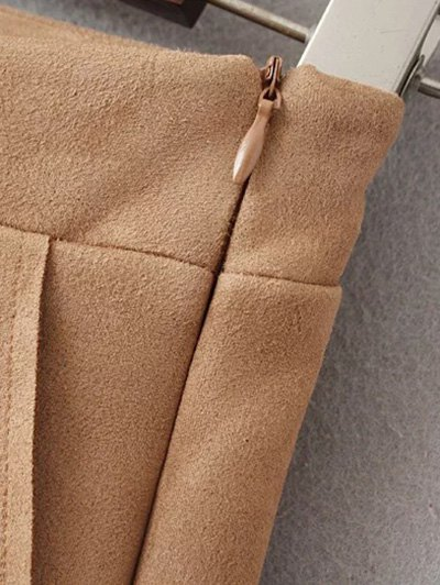Suede Pockets Shorts - KHAKI L Mobile
