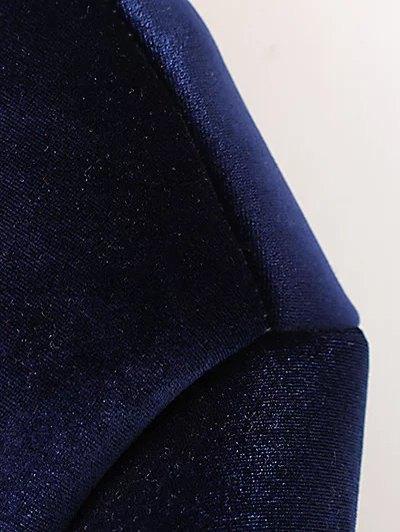 Velvet Zipped Bomber Jacket - BLACK S Mobile
