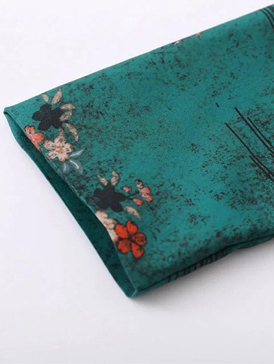 Printed Wrap Bodysuit - GREEN L Mobile