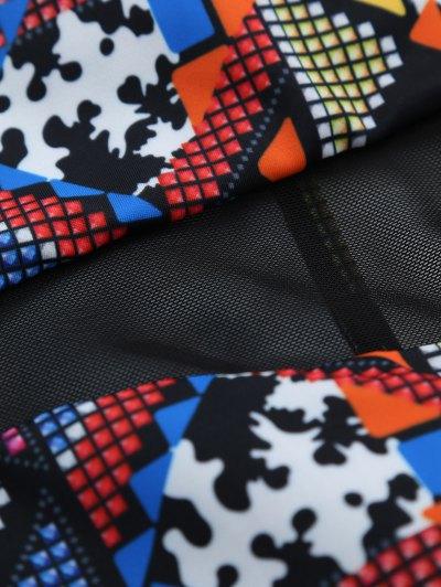 Patterned High Cut Swimwear - BLACK L Mobile