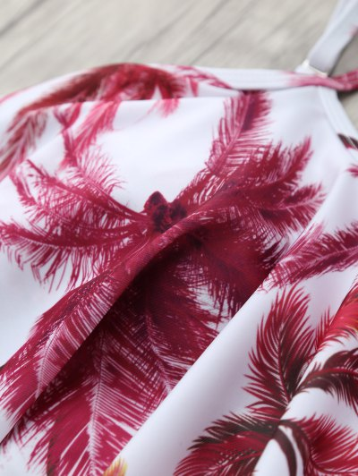 Coconut Palm Spaghetti Straps Bikini - FLORAL XL Mobile