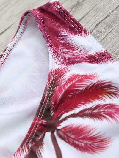 Coconut Palm Spaghetti Straps Bikini - FLORAL M Mobile